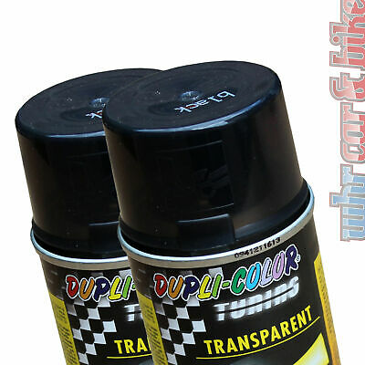 2x 150ml Dosen Dupli-Color Tuning Tönungsspray schwarz Transparent-Lack