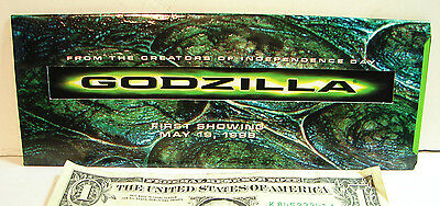 Vintage Limited Edition Godzilla Film Frame Reproduction May 19, 1998