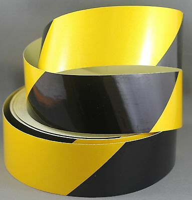 Yellow/Black Class 2 Reflective Tape 50mm x 15m