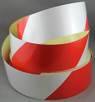 Red/White Class 2 Reflective Tape 50mm x 15m