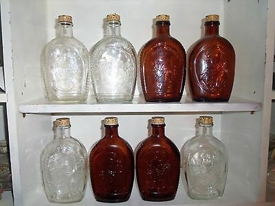 8 Vintage 1976 Log Cabin Syrup 200th Anniversary Edition Since 1776 w Caps