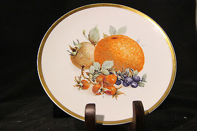 RARE VINTAGE (TWO) COLLECTIBLE MITTERTEICH  & GOLDEN CROWN CHINA FRUIT PLATE