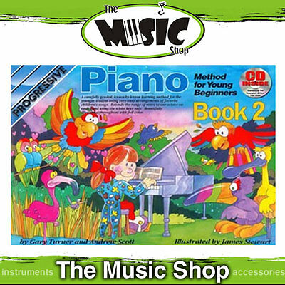 Progressive Piano Method for Young Beginners Book 2 with CD - Kids Learning Book