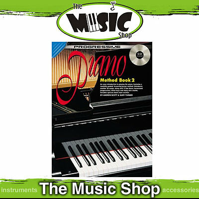 New Progressive Piano Method Book 2 with CD - Music Tuition Book