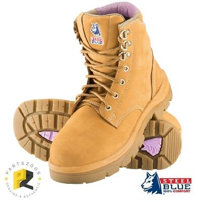 Steel Blue Argyle Ladies Safety Toe Cap Boots 512702 Wheat