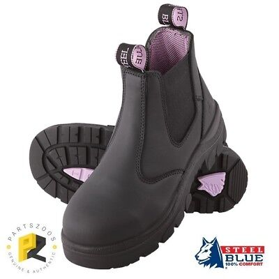 Steel Blue Hobart Ladies Safety Toe Cap Work Boots Black 512701