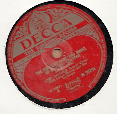 Decca Calypso 78 Lord Invader The Soldiers Came And Broke Up My Life/madam.. ♫