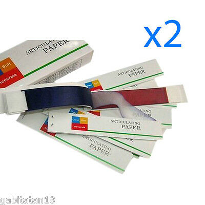 DENTAL ARTICULATING PAPER, BLUE / RED 65 MY ROYAL DENT 2 Boxes Dental Supplies