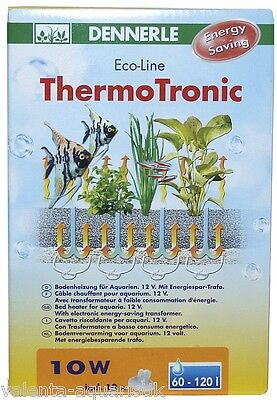 Dennerle ThermoTronic 10 Watt Thermo-Tronic Kabelheizung Bodenfluter Aquarium