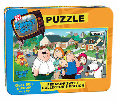 Family Guy Puzzle In Tin  Peter, Stewie, Brian, Chris, Lois And Meg New Sealed