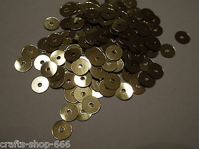 200 Pailletten  Gold   ca: 6mm - Glatt - Neu #2