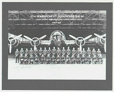 "11th BOMBARDMENT SQUADRON  HICKAM BASE HAND PRINTED SILVER HALIDE ON 8x10"" MAT"