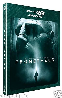 Prometheus  Blu-Ray 3D Active + Blu-Ray + Dvd -Vf -Neuf