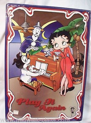 Betty Boop - - Play It Again Metal sign