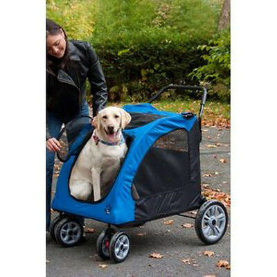 Pet Gear Dog Stroller Expedition Pet Stroller Blue up to 150 lbs PG8800SB