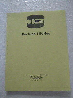 IGT - FORTUNE 1 - VIDEO MANUAL