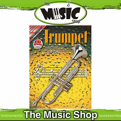 Progressive Trumpet Music Book & CD by Peter Gelling  -Trumpet Tuition Book
