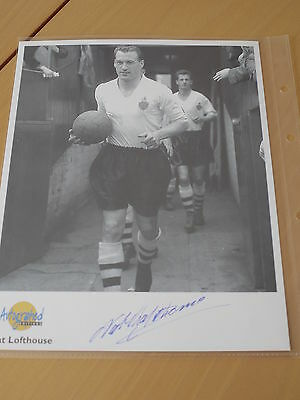 Nat Lofthouse  Bolton Signed Westminster Autographed Editions Photo - C.O.A.