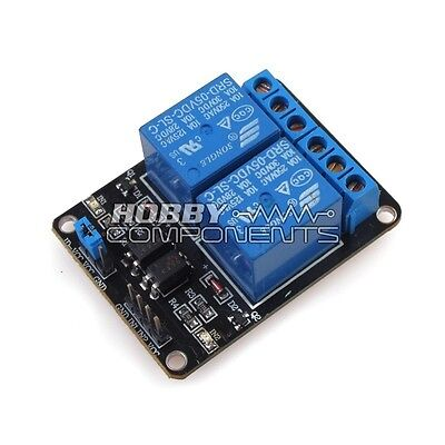 Hobby Components UK Arduino compatible 2 Channel 5V Relay Module Expansion Board