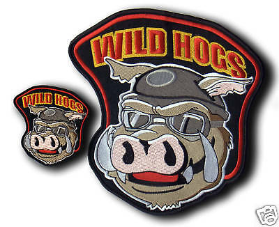 "LARGE SET of WILD HOGS patches 4"" and 12"" BEST COLOURS"