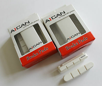 AICAN fit Shimano road brake pads inserts white compare kool stop 2 pairs