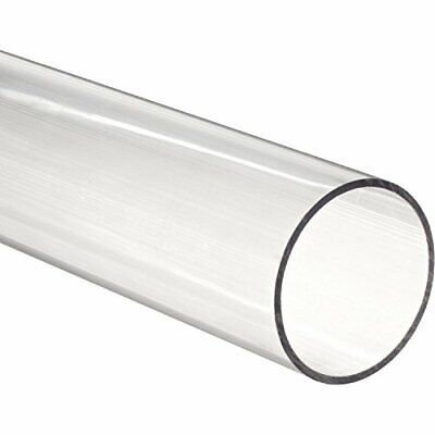 "Clear Extruded Acrylic Round Tube 7 3/4"" ID x 8"" OD x 3ft (Nominal)"