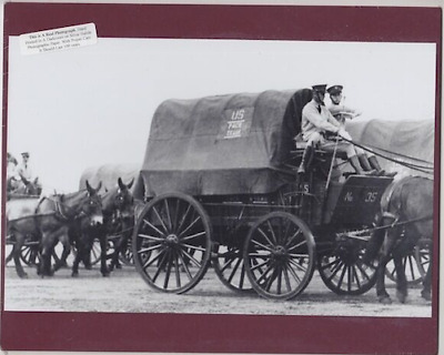 """Pack Train At Schofield Barracks Hand Printed Silver Halide Photo On 8X10"""" Mat"""