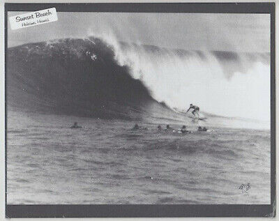 """BUTCH VanARTSDALEN AT SUNSET BEACH, OAHU 1968 HAND PRINTED 8X10"""" BY PHOTOGRAPHER"""
