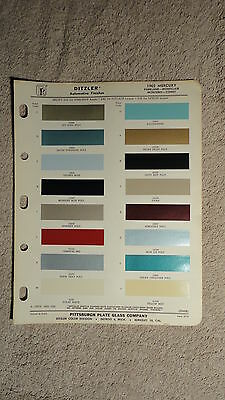 Ditzler Paint Chip Charts - 1965 Mercury