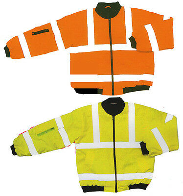 Hi Visibility Bomber Jacket EN471 GO/RT 3279 Padded Orange & Yellow Small - 3XL