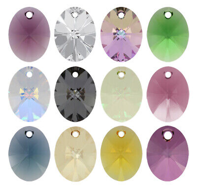 Genuine SWAROVSKI 6028 XILION Oval Crystals Pendants * Many Sizes & Colors