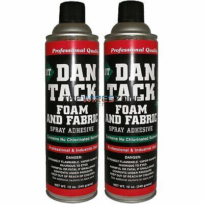 2 x Dan Tack 2012 Foam & Fabric Spray Adhesive or Glue Can 12 oz (2/pack)