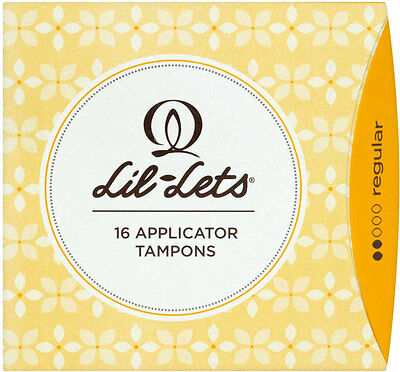 Lil-Lets Silk Comfort Compact Applicator Tampons Regular (16)