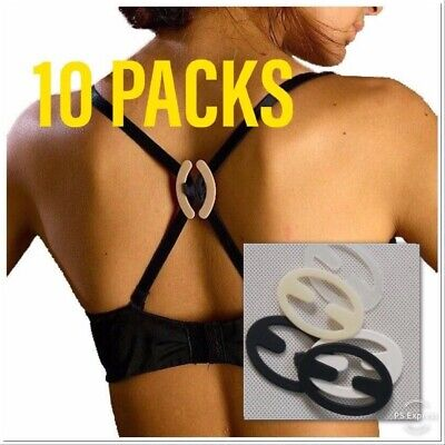 Bra Strap Clips <10 Packs> Cleavage Control Sports Racerback Buckle Clasp Holder