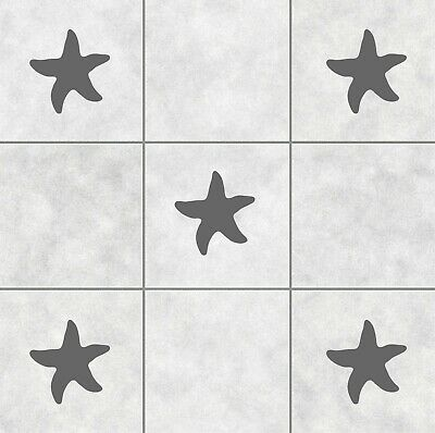 16 Starfish Tile Stickers Transfer Decals For Bathroom Waterproof Sea Ocean | T1