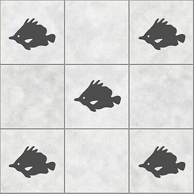 16 x Fish Tile Stickers Transfer Decals For Bathroom Or Kitchen Waterproof | T4