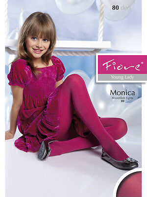 New Girls Teen Fiore Monica 80 Denier Young Lady Colourful Tights S,M,L