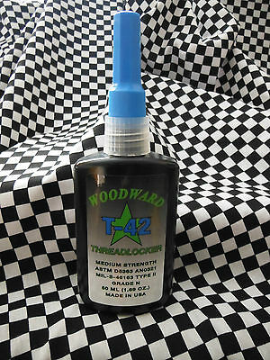 Woodward Race Products WRP Threadlocker Blue Medium Strength Adhesive