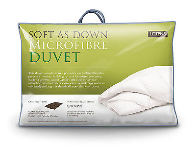 All Seasons Duo 15 Tog Soft As Down Microfibre Single Bed Size Duvet Quilt