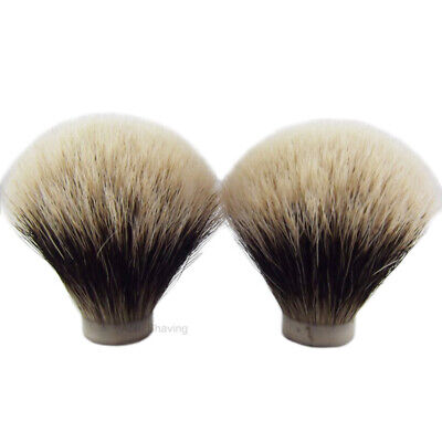 2 Pieces Of Finest Badger Hair Shaving Brush Head Knot Size 24mm