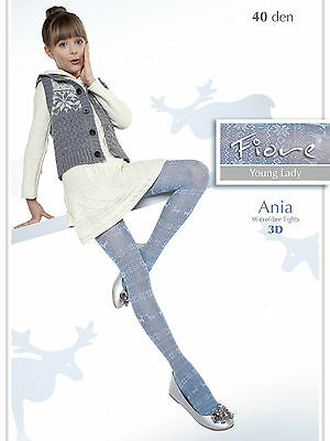 New Fiore Ania 40 Denier Young Lady Tights S,M,L
