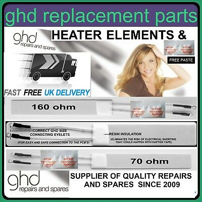 GHD HAIR STRAIGHTENERS repair replacement heater elements free thermal paste