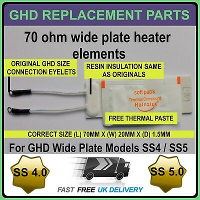 GHD Hair Straightener Ceramic Heaters ForThe Wide Plate SS 4 AND SS 5 models