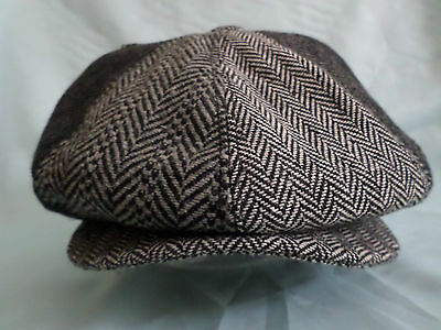 MENS MULTI COLOUR GREY BAKER BOY CAP NEWSBOY PAPERBOY 8-PANEL HAT 1920's STYLE