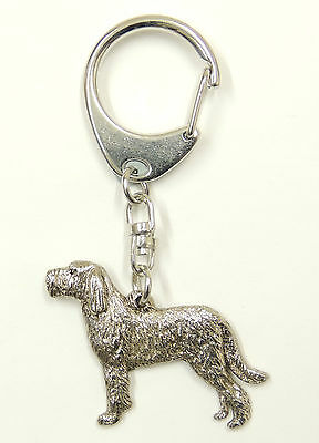 Italian Spinone (with Tail), Silver Keyring