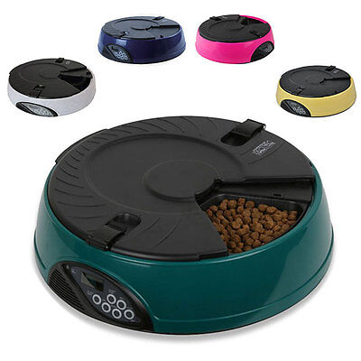 6 Meal/day Automatic Pet Feeder For Cat Or Dog Holiday Auto Dispenser Bowl Lcd