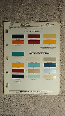 Ditzler Paint Chip Charts - 1965 Commercial Colors