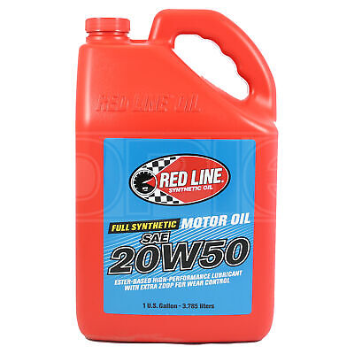 RED LINE High Performance Synthetic Motor Oil 20W-50 1 US Gallon 3.78 litres)