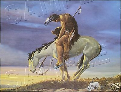 End Of The Trail Famous Man & Horse *canvas* Art Print
