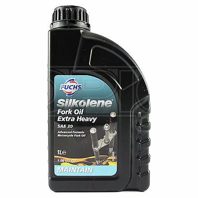 Silkolene Fork Oil Extra Heavy SAE 30W Advanced Motorcycle Suspension 1 Litre